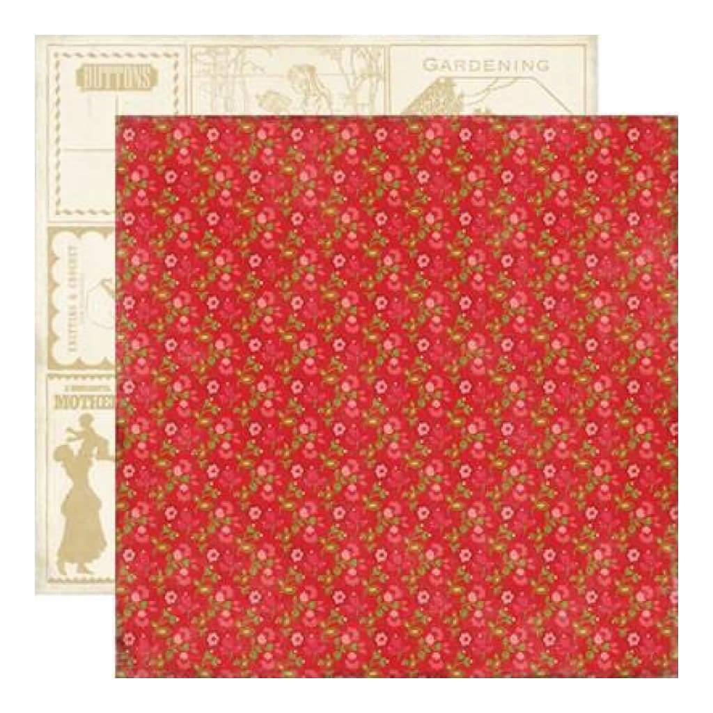 Echo Park - This & That Graceful - Red Floral (Pack Of 10)