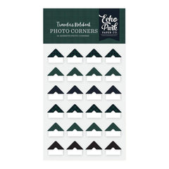 Echo Park Travelers Notebook Photo Corners 24 pack Black Watch Plaid