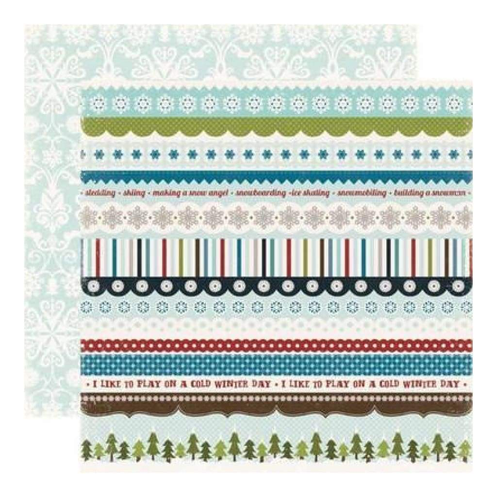 Echo Park - Winter Park - Borders 12X12 Inch Double-Sided Paper (Pack Of 10)