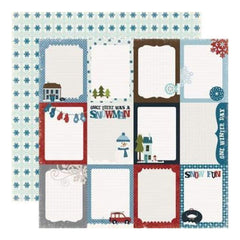 Echo Park - Winter Park - Journaling Cards 12X12 Inch Double-Sided Paper (Pack Of 10)