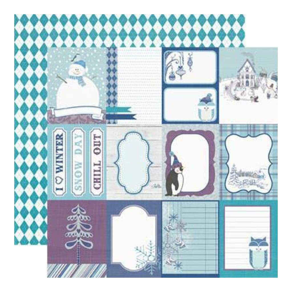 Echo Park - Winter Wishes - Journaling Cards 12X12 Inch Double-Sided Paper (Pack Of 10)