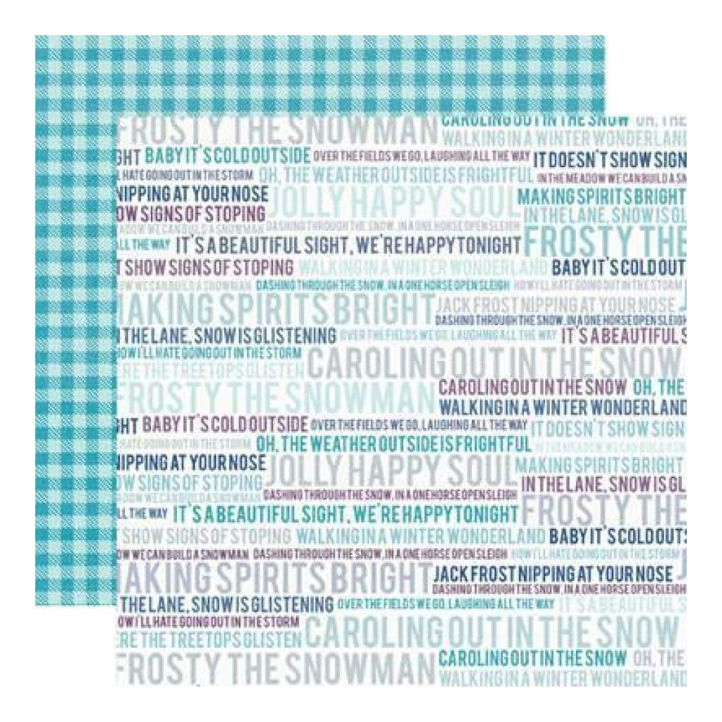 Echo Park - Winter Wishes - Wintery Words 12X12 Inch Double-Sided Paper (Pack Of 10)