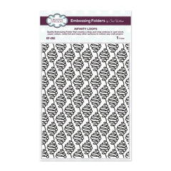 "Creative Expressions Embossing Folder 5 3/4 x7 1/2"" Infinity Loops"