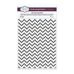 Creative Expressions - Emboss Folder 5 3/4 x 7 1/2 Zig Zag Squares