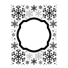 Creative Expressions - Emboss Folder 5 3/4 x 7 1/2 Eves Snowflakes