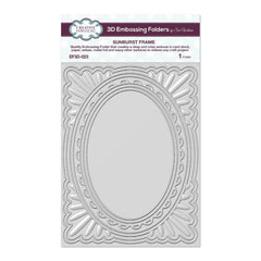Creative Expressions 3D Embossing Folder 5.75in x 7.5in - Sunburst Frame