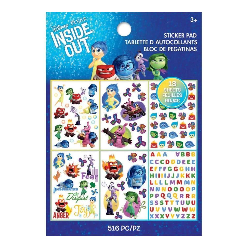 Ek Success - Disney Sticker Pad 18 Sheets Inside Out