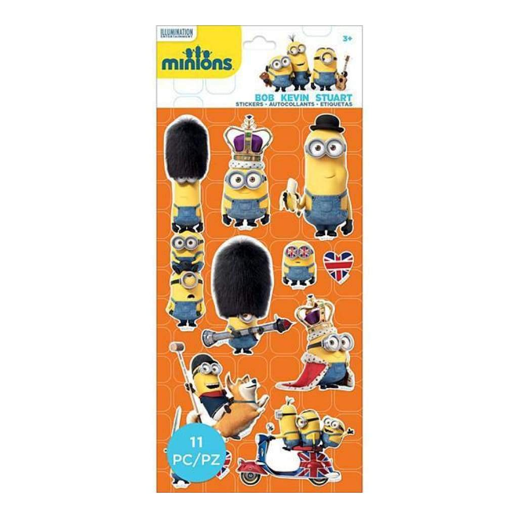 Ek Success - Minions Mini Flat Stickers British Invasion
