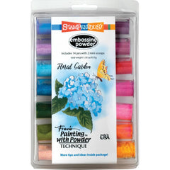 Stampendous Embossing Powder 14 pack 4.09oz Floral Garden