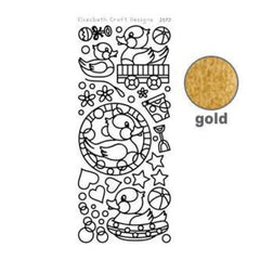 Elizabeth Craft Design - Rubber Ducky Peel-Off Stickers Gold