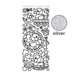 Elizabeth Craft Design - Rubber Ducky Peel-Off Stickers Silver