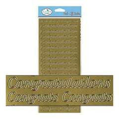 Elizabeth Craft Designs  - Congratulations Large Peel-Off Stickers Gold