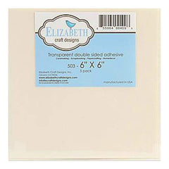 "Elizabeth Craft Designs - Double Sided Adhesive 6""x 6"" Sheets, 5 pack"