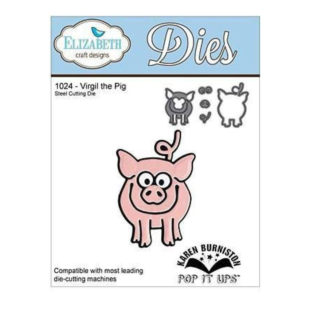 Elizabeth Craft Pop It Up Metal Dies By Karen Burniston Virgil The Pig