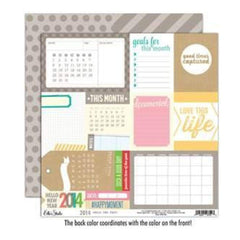 Elle's Studio - 2014 - Hello New Year 12X12 D/Sided Paper  (Pack Of 10)