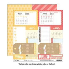 Elle's Studio - 2014 - May & June 12X12 D/Sided Paper  (Pack Of 10)