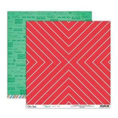 Elle's Studio - Noel - Candy Cane 12X12 D/Sided Paper  (Pack Of 10)