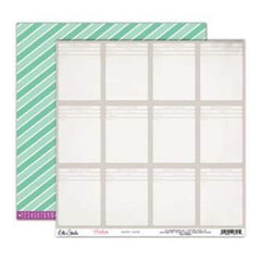 Elle's Studio - Penelope - Happy Note 12X12 D/Sided Paper  (Pack Of 10)
