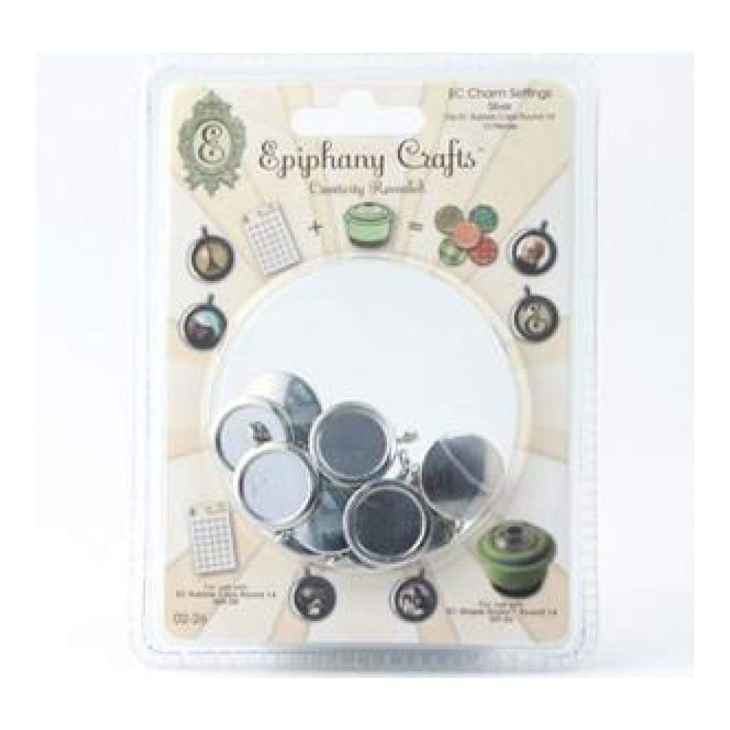 Epiphany Crafts - Shape Studio Settings - Round 14Mm - Metal Charm Silver