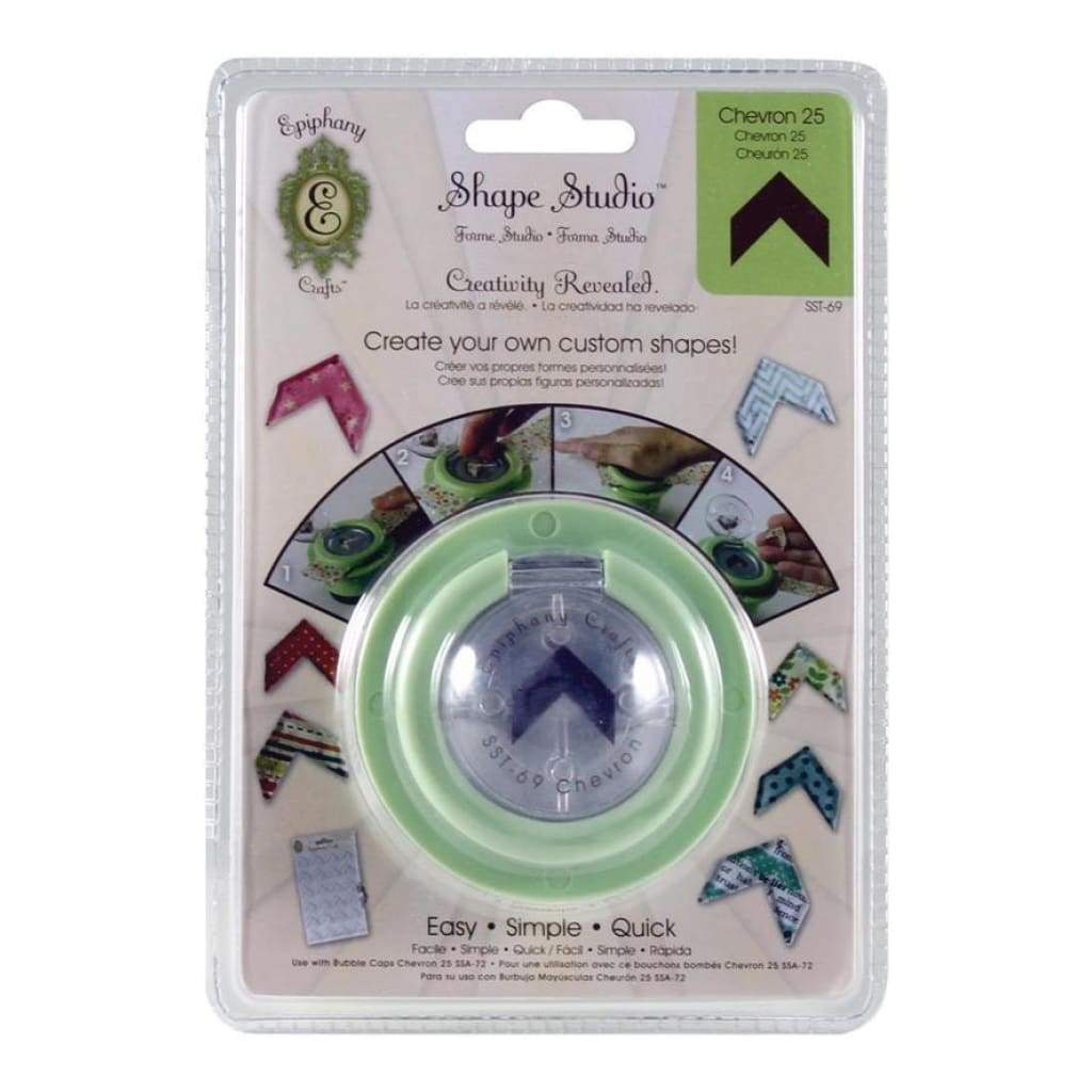 Epiphany Crafts - Shape Studio Tool - Chevron 25 *