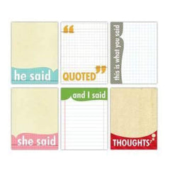 Elle's Studio Everyday - Quotables - 3X4 Inch Note Tags