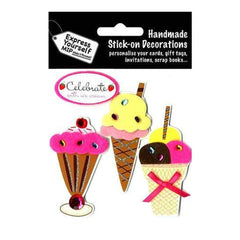 Express Yourself Mip 3-D Stickers - Ice Creams
