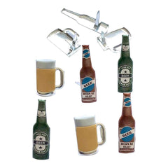 Eyelet Outlet Shape Brads 12 pack - Beer