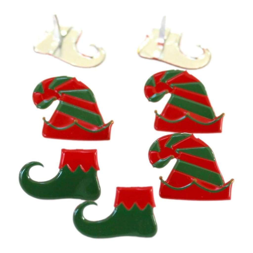 Eyelet Outlet Shape Brads 12 pack Elf