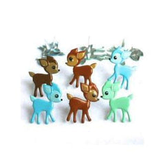 Eyelet Outlet Shape Brads 12 Pack Fawn