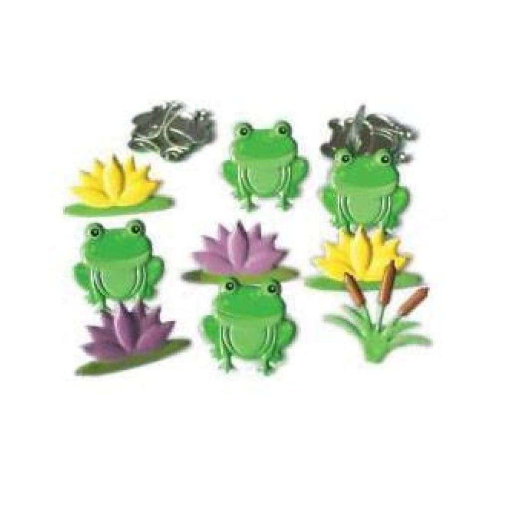 Eyelet Outlet Shape Brads 12 Pack  Frog Mix