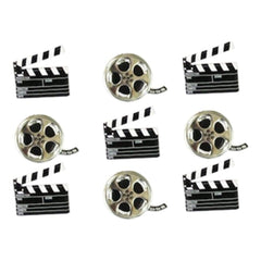 Eyelet Outlet Shape Brads 12 pack - Movie