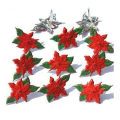 Eyelet Outlet Shape Brads 12 Pack Poinsettia