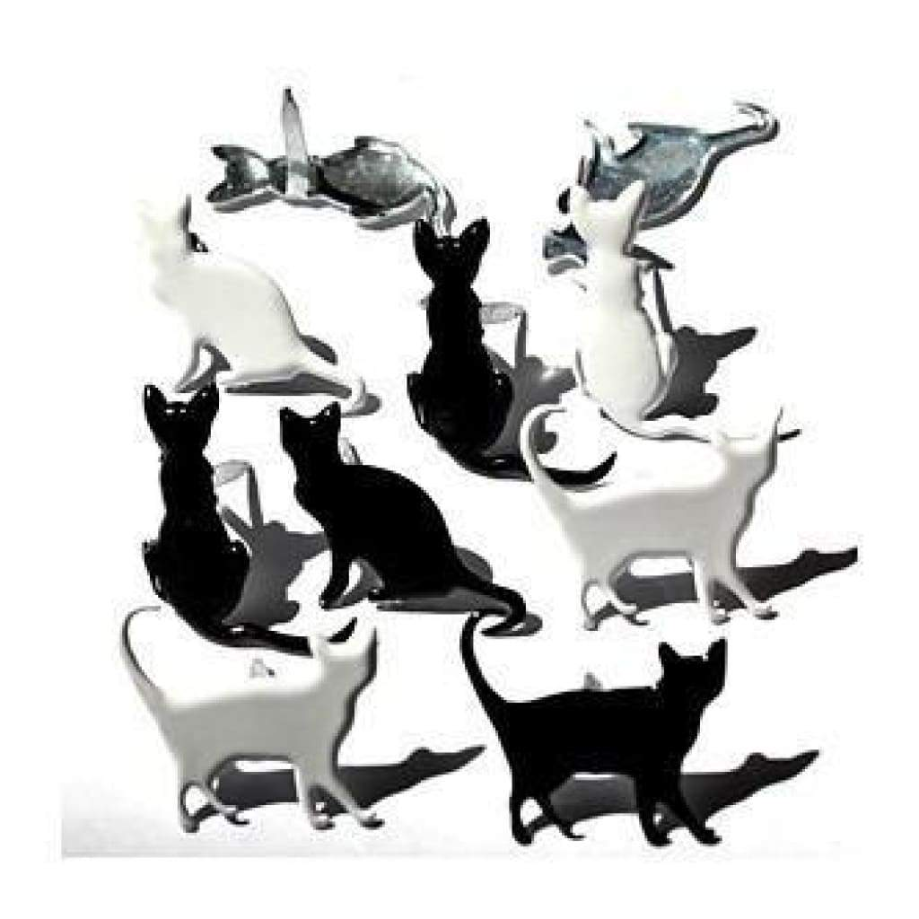 Eyelet Outlet Shape Brads 12 Pack - Silhouette Cat