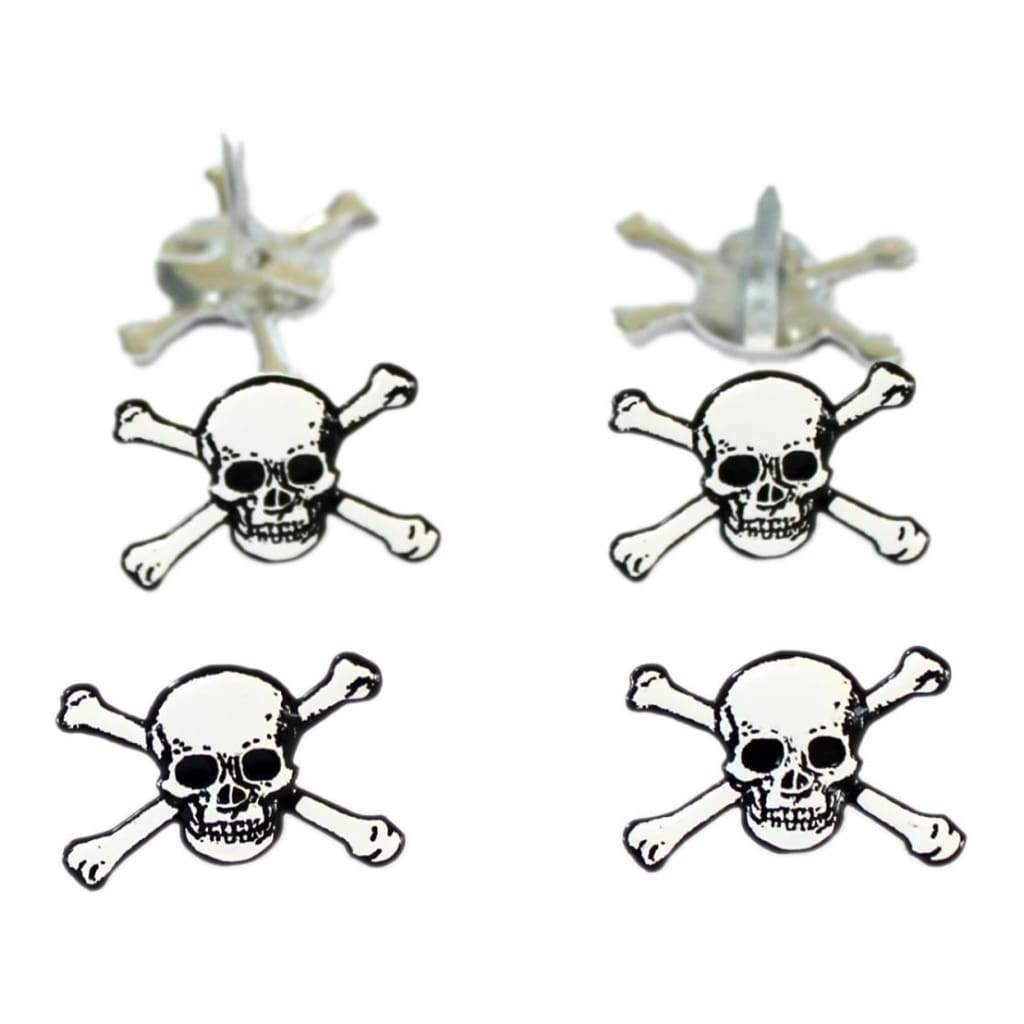 Eyelet Outlet Shape Brads 12 pack Skulls