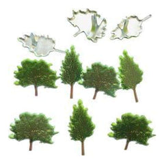 Eyelet Outlet Shape Brads 12 pack - Summer Tree