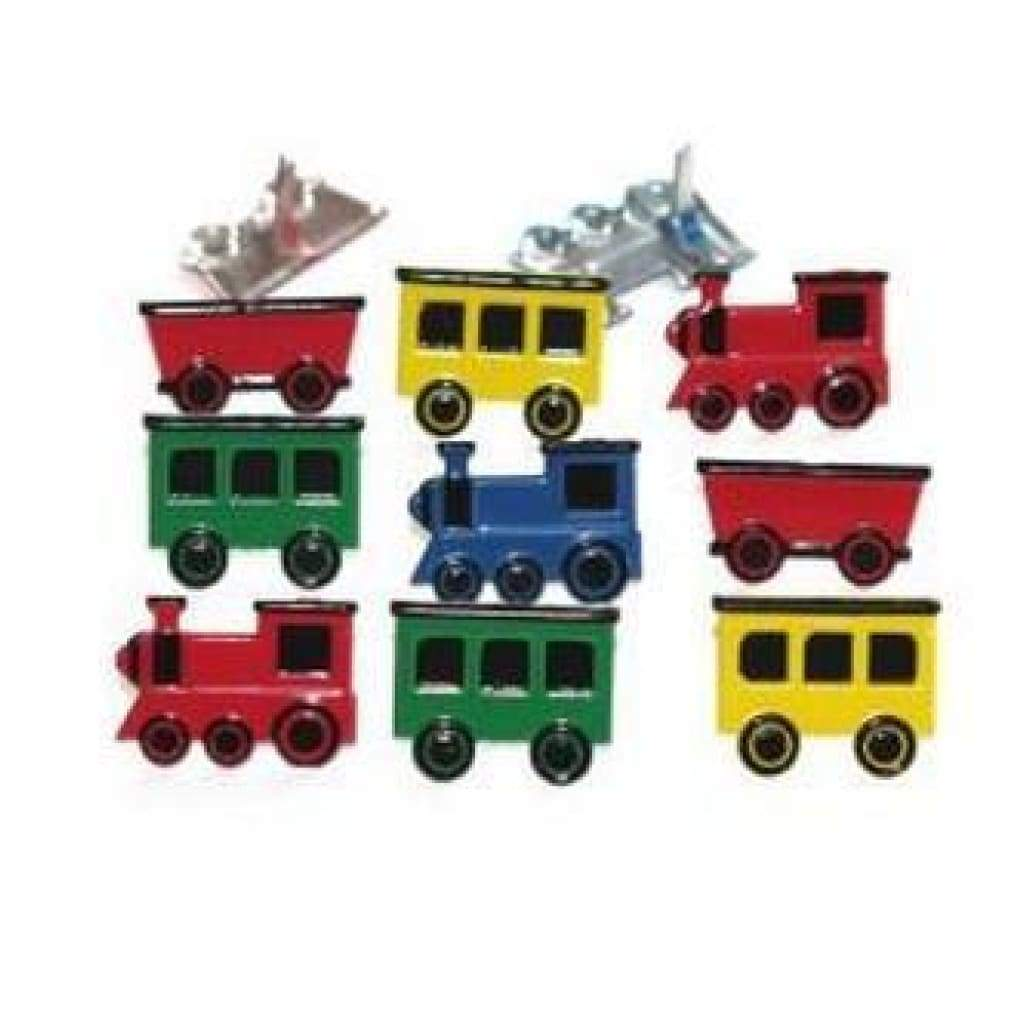 Eyelet Outlet Shape Brads 12 Pack Train Mix