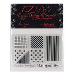 Ez-De's Clear Stamps 3X4 Sheet Sampler Set A