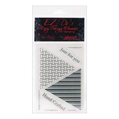 Ez-De's Clear Stamps 4X6 Sheet Tri Triangle Set A