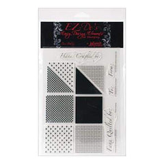 Ez-De's Clear Stamps 6X8 Sheet Checkered Woven Hearts