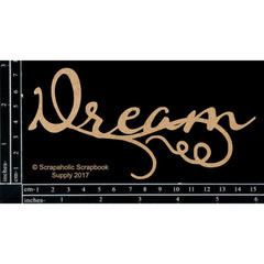 Scrapaholic Laser Cut Chipboard 1.8mm Thick - Dream, 6in x 3in