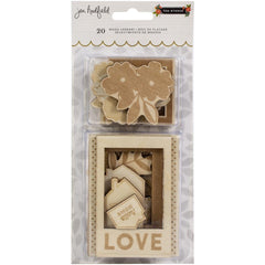 Pebbles Jen Hadfield - The Avenue Wood Veneers 20 pack