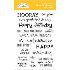 Doodlebug Clear Doodle Stamps Happy Birthday