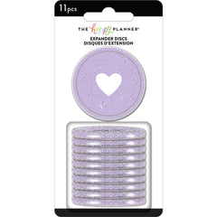 Me & My Big Ideas - Happy Planner Medium Expander Discs 1.75in  11 pack  - Grape Glitter