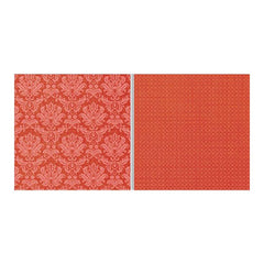 "Teresa Collins - Fabrications Canvas Double-Sided Cardstock 12""X12"" - Red Brocade"