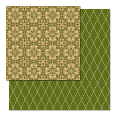 "Teresa Collins - Fabrications Canvas Double-Sided Cardstock 12""X12"" - Green Diamond"