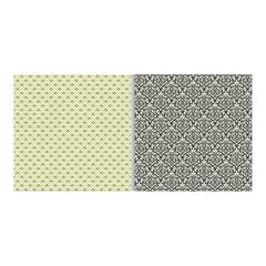 "Teresa Collins - Fabrications Canvas Double-Sided Cardstock 12""X12"" - Green Fleur De Lis"