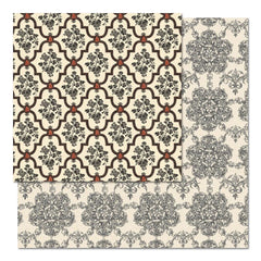 "Teresa Collins - Fabrications Canvas Double-Sided Cardstock 12""X12"" - Ornate Brackets"