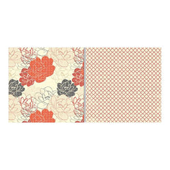 "Teresa Collins - Fabrications Canvas Double-Sided Cardstock 12""X12"" - Pretty Flowers"