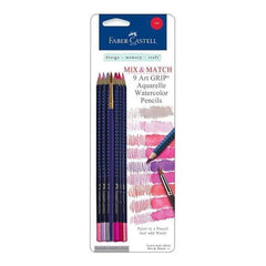 Faber-Castell -  Art Grip Aquarelle Watercolor Pencils 9 Pack  Red