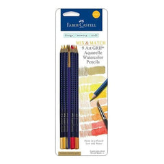 Faber-Castell -  Art Grip Aquarelle Watercolor Pencils 9 Pack  Yellow